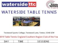 Waterside Table Tennis sessions