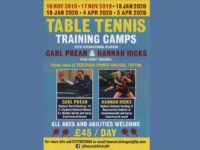 Next Carl Prean / Hannah Hicks Training Sessions